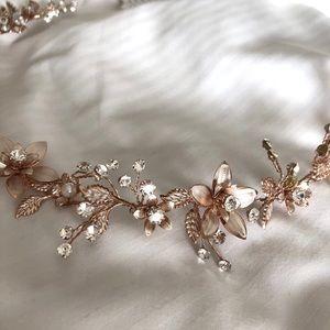 Rose Gold Bridal Headband